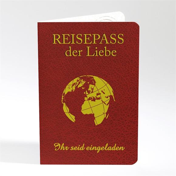 Einladungskarte Hochzeit Reisepass der Liebe réf.N40180