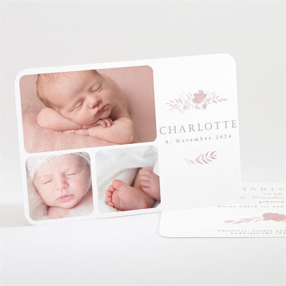 Geburtskarte Kleine Rose réf.N111226
