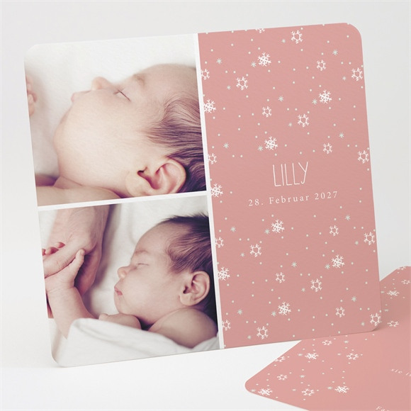 Geburtskarte Schneeflocken réf.N311229