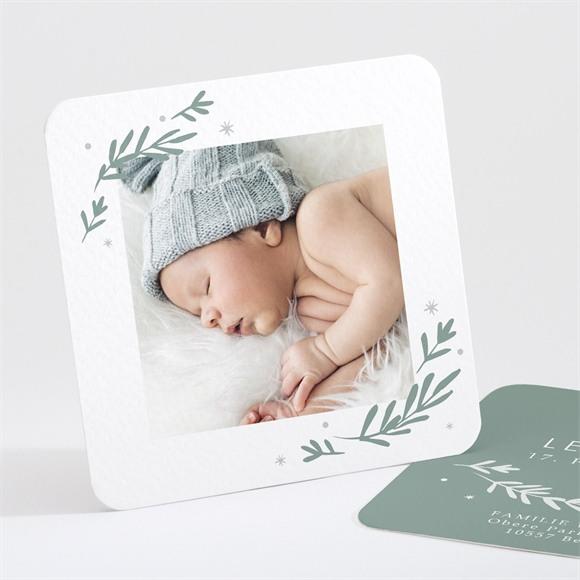Geburtskarte Silberlaub réf.N30179