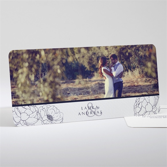 Danksagungskarte Hochzeit Päonie réf.N13186