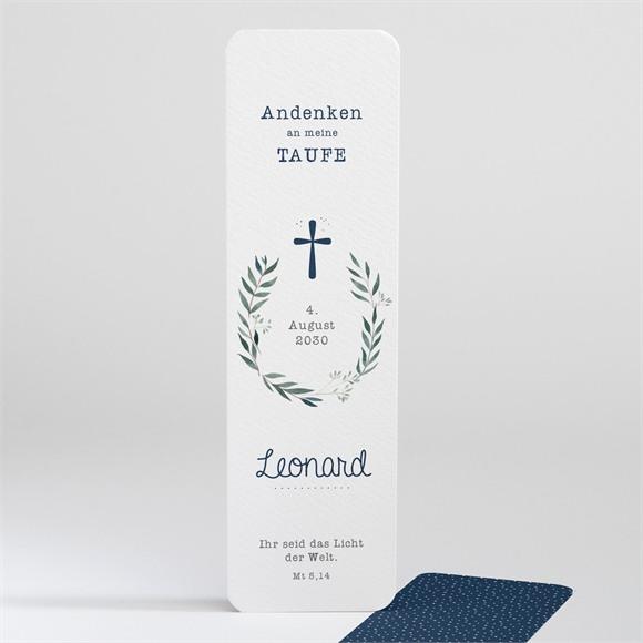 Lesezeichen Taufe Pünktchen blau réf.N20136