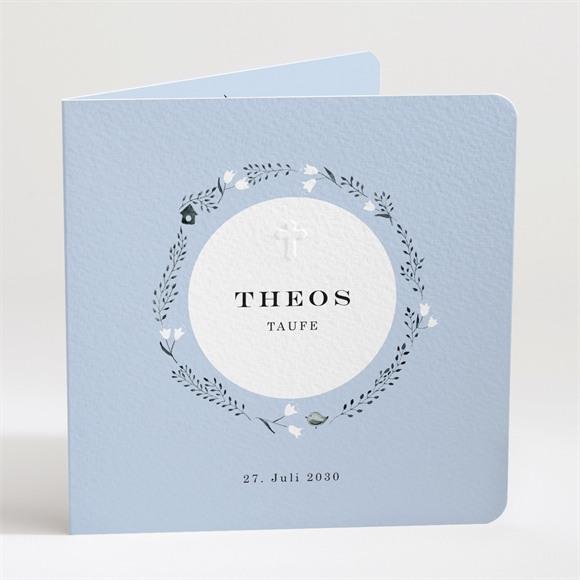 Einladungskarte Taufe Ring der Natur Blau réf.N451130