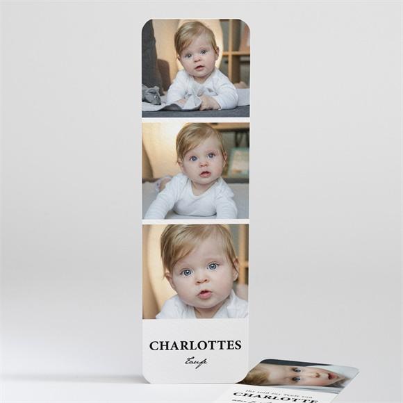 Einladungskarte Taufe Miniatur Fotos réf.N20164