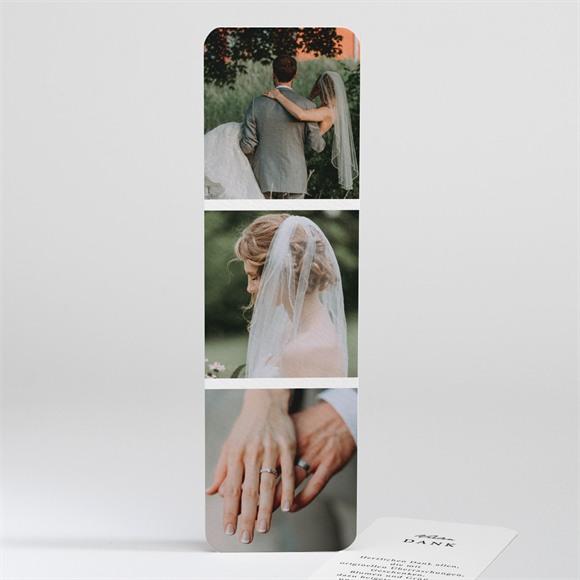 Danksagungskarte Hochzeit Fotoautomat schlicht réf.N201111