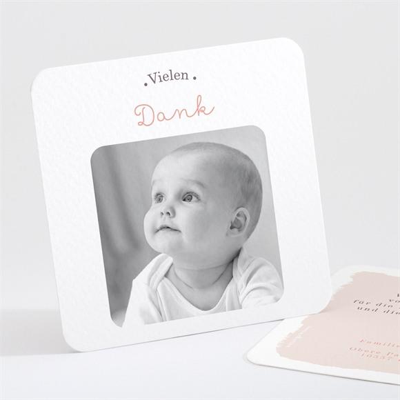 Danksagungskarte Geburt Schaukelpferd Mädchen réf.N301149