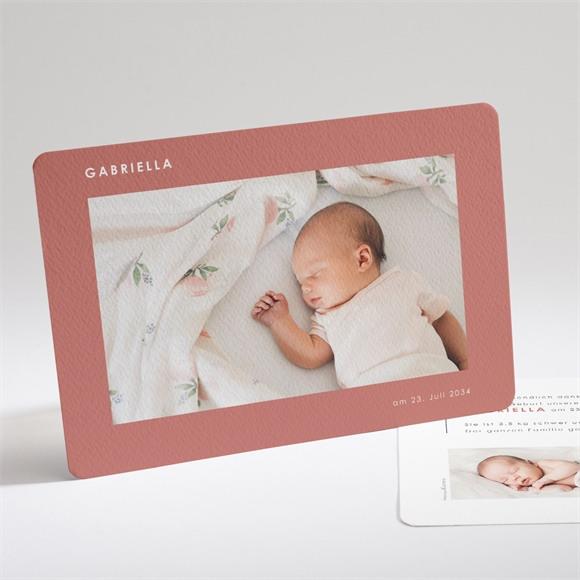 Geburtskarte Chic umrahmt réf.N14193