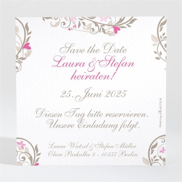 Save the Date Hochzeit Herzschlag réf.N300116