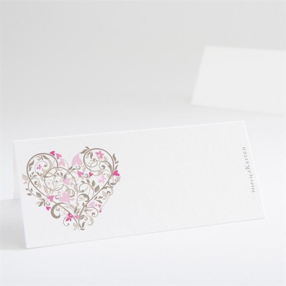 Tischkarte Hochzeit Herzschlag réf.N440141