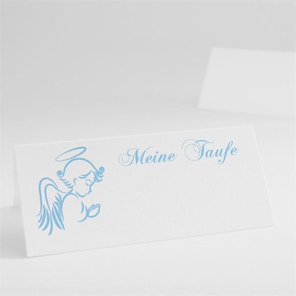 Tischkarte Taufe Blauer Engel réf.N440205