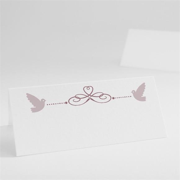Tischkarte Taufe Rosa Patchwork réf.N440247