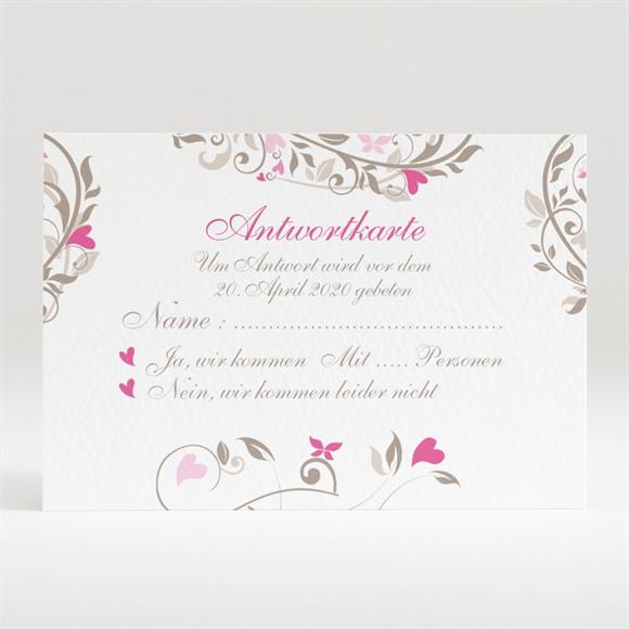 Antwortkarte Hochzeit Herzschlag réf.N120241