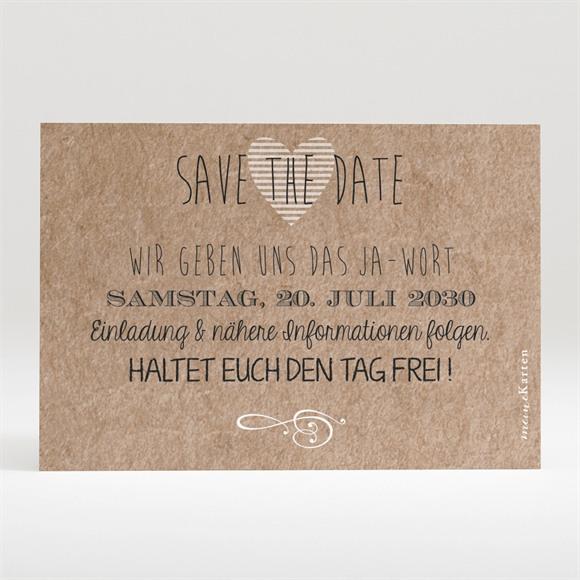 Save the Date Hochzeit Zurück zur Natur réf.N120280