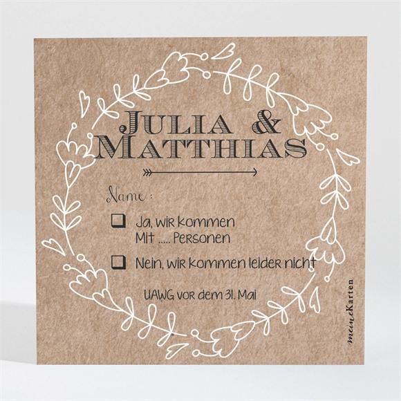 Antwortkarte Hochzeit Zurück zur Natur réf.N300340