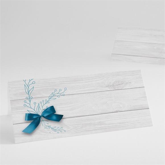 Tischkarte Taufe Blaue Schleife réf.N440367