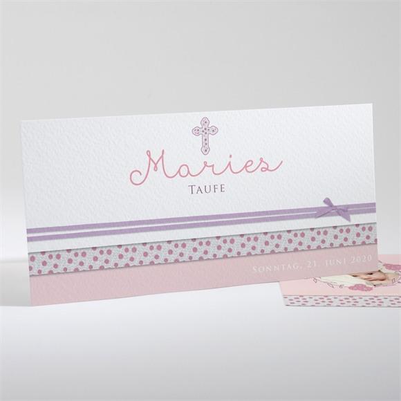Einladungskarte Taufe Girly réf.N13132