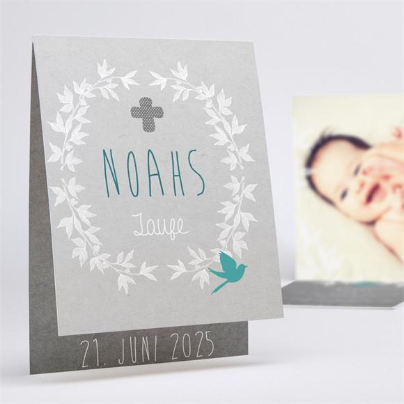 Einladungskarte Taufe Vogelgezwitscher réf.N50148