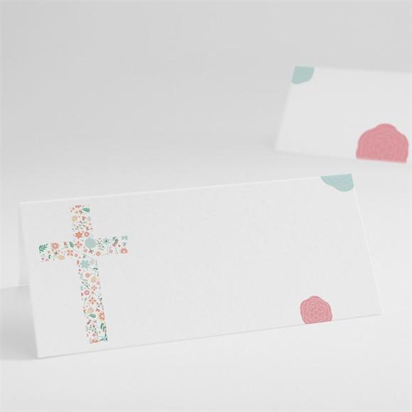 Tischkarte Taufe Liberty Kreuz réf.N440393