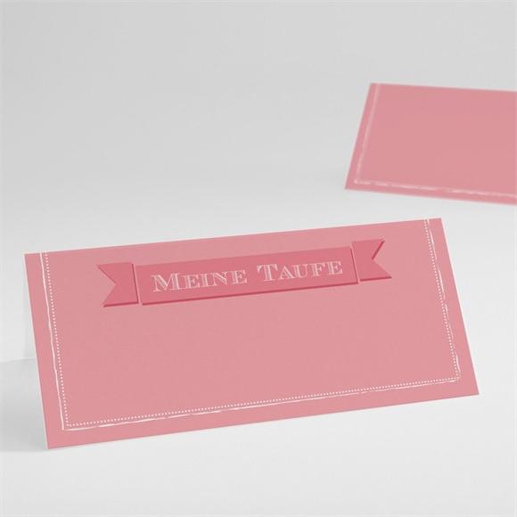 Tischkarte Taufe Rosa Kalligrafie réf.N440396