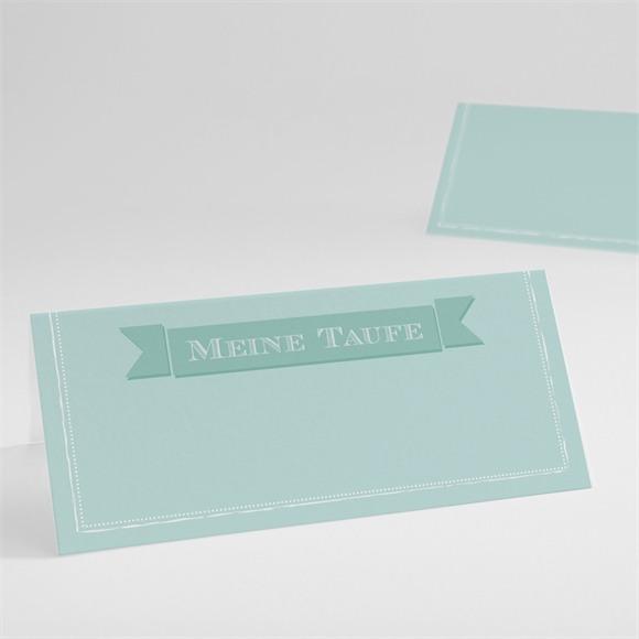 Tischkarte Taufe Grüne Kalligrafie réf.N440397