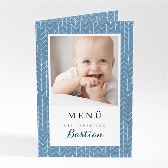 Menü Taufe Blaues Muster réf.N401459