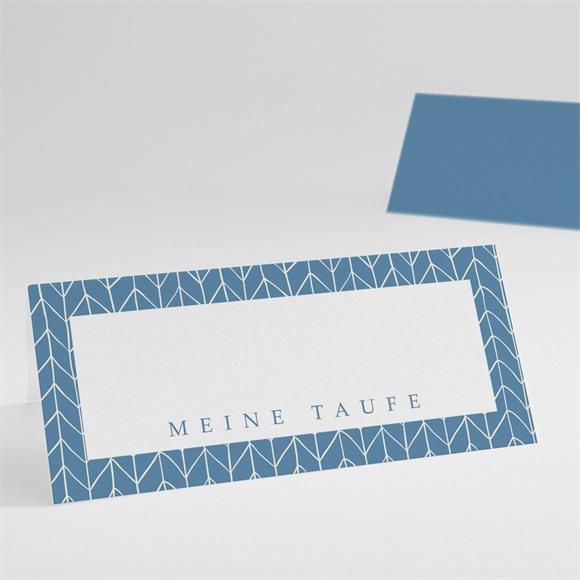 Tischkarte Taufe Blaues Muster réf.N440399