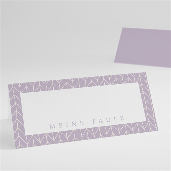 Tischkarte Taufe Rosa Muster réf.N440400