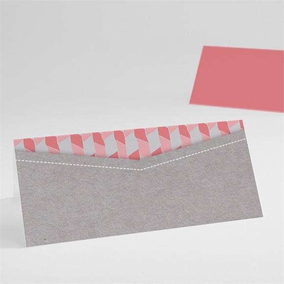 Tischkarte Taufe Rosa Mosaik réf.N440401