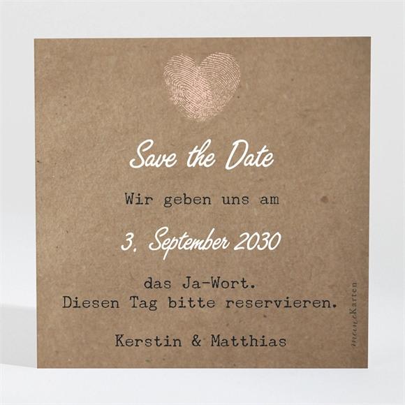 Save the Date Hochzeit Herzabdruck réf.N300671