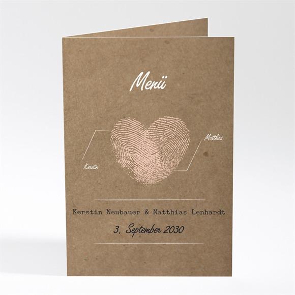 Menü Hochzeit Herzabdruck réf.N401541
