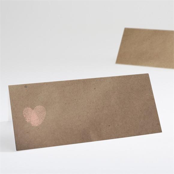 Tischkarte Hochzeit Herzabdruck réf.N440424