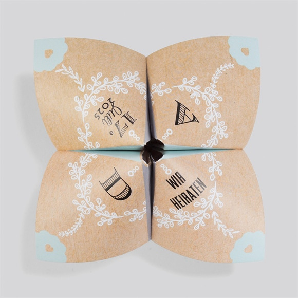 Einladungskarte Hochzeit Kleines Origami réf.N33001