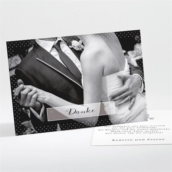 Danksagungskarte Hochzeit Retro ausgefallen réf.N11171