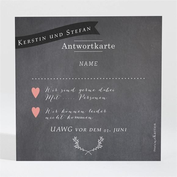 Antwortkarte Hochzeit Retro ausgefallen réf.N300687
