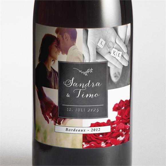 Flaschenetikett Hochzeit Retro ausgefallen réf.N300688