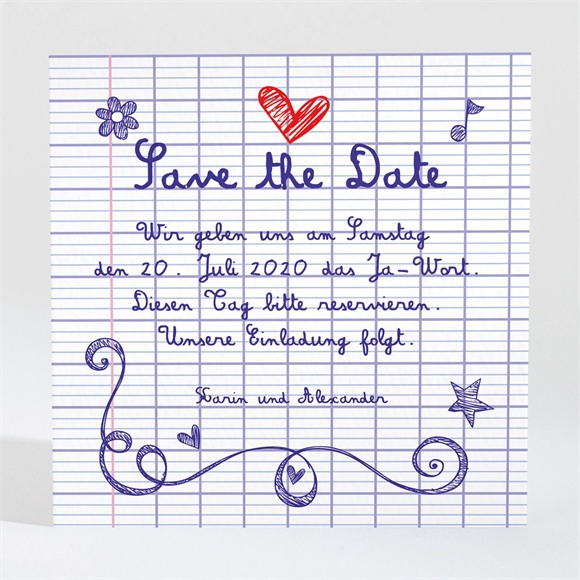 Save the Date Hochzeit T.-Nr. N300725 réf.N300725