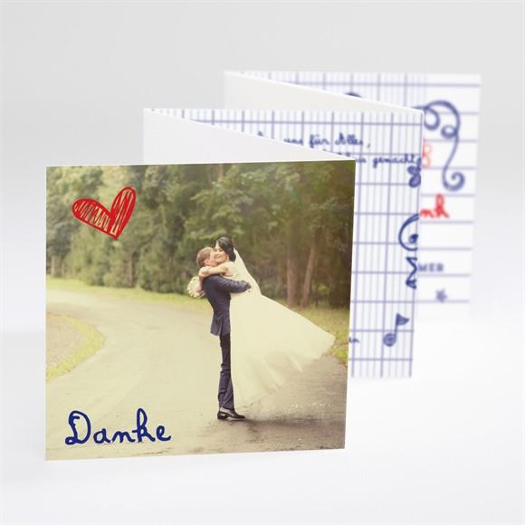 Danksagungskarte Hochzeit Schreibschrift réf.N80076