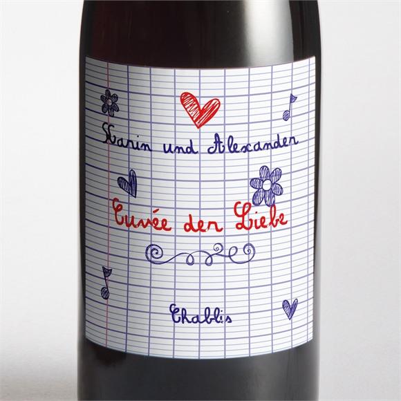 Flaschenetikett Hochzeit Schreibschrift réf.N300727