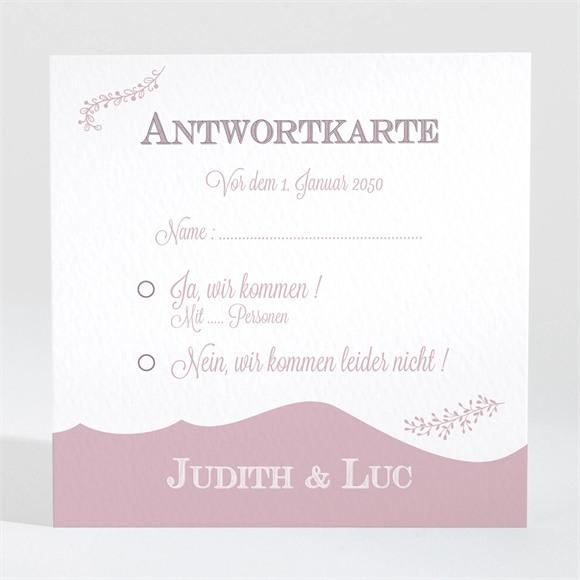Antwortkarte Hochzeit Fotostory réf.N300847