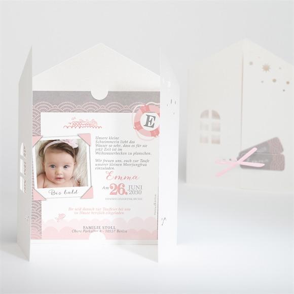 Einladungskarte Taufe Matrose in Rosa réf.N91022