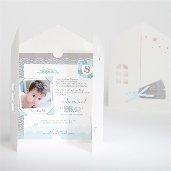 Einladungskarte Taufe Matrose in Blau réf.N91023