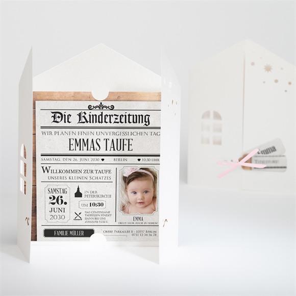 Einladungskarte Taufe Titelstory réf.N91026