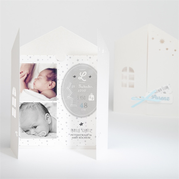 Geburtskarte Süße und Glück réf.N91033