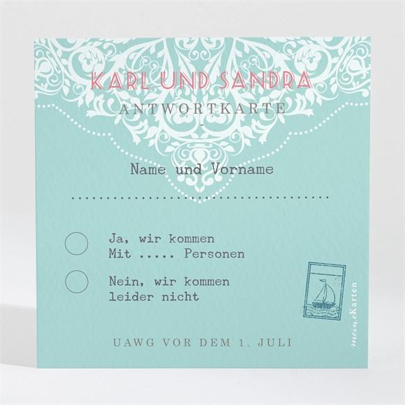 Antwortkarte Hochzeit Reisepass réf.N300867