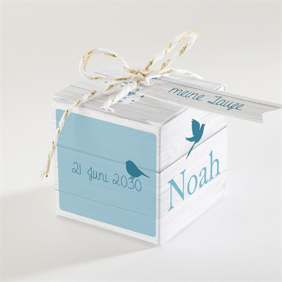 Zuckermandel Schachtel (Taufe) Blaue Schleife réf.N34011