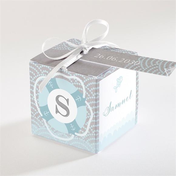 Zuckermandel Schachtel (Taufe) Matrose in Blau réf.N34015
