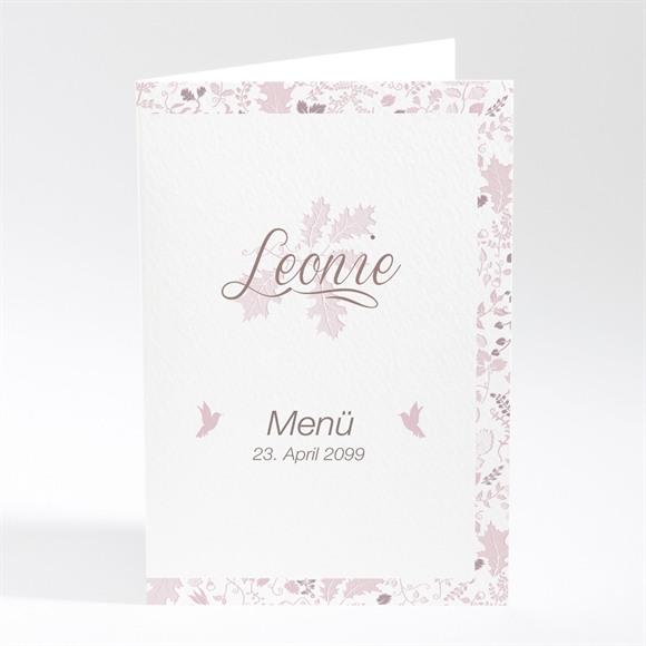 Menü Taufe Blumenhaus rosa réf.N401733