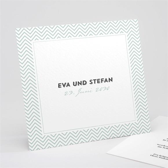 Einladungskarte Hochzeit Zickzack réf.N311188