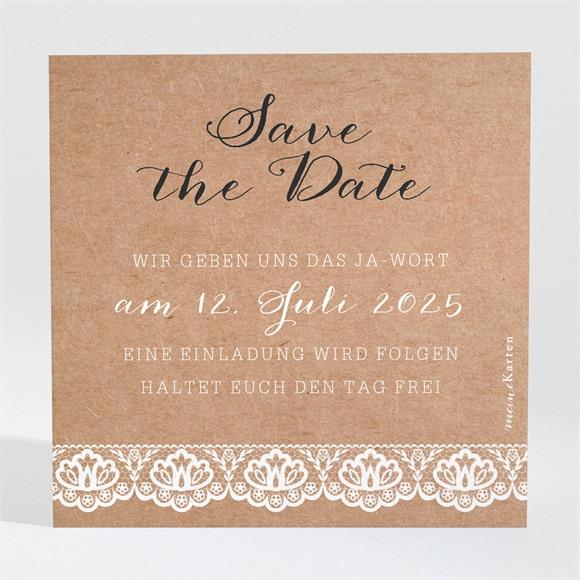 Save the Date Hochzeit Rund um die Spitze réf.N3001273