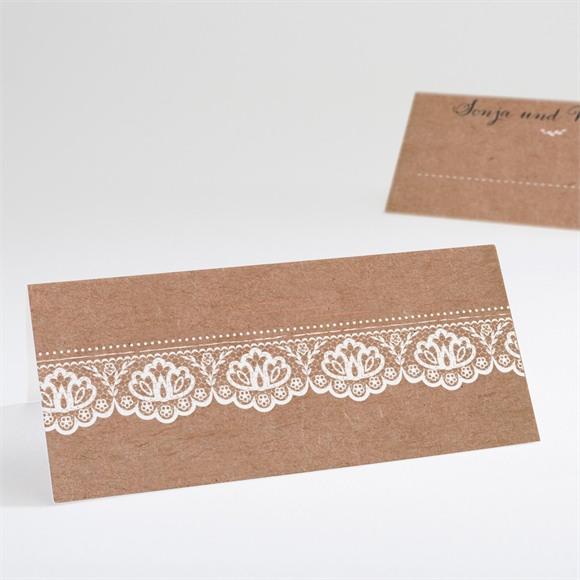 Tischkarte Hochzeit Rund um die Spitze réf.N440618